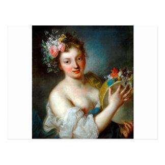 Alegoria da música por Rosalba Carriera Cartão Postal