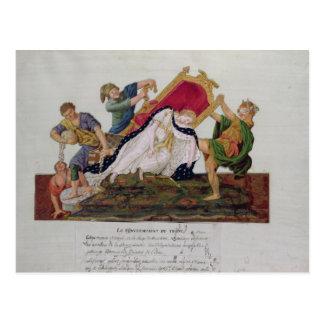 Alegoria da reviravolta do trono cartão postal