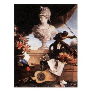 Alegoria de Europa por Jean-Baptiste Oudry Cartão Postal