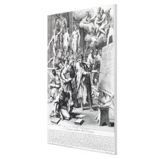 Alegoria de um estúdio do design impressão de canvas esticadas