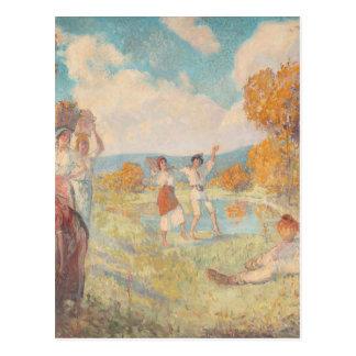 Alegoria do outono (a arte e o vinho) por Nicolae Cartão Postal