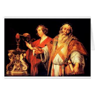 Alegoria religiosa por Jacob Jordaens Cartão Comemorativo
