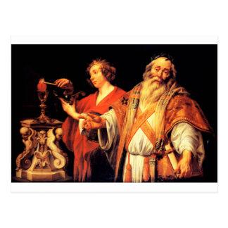 Alegoria religiosa por Jacob Jordaens Cartão Postal