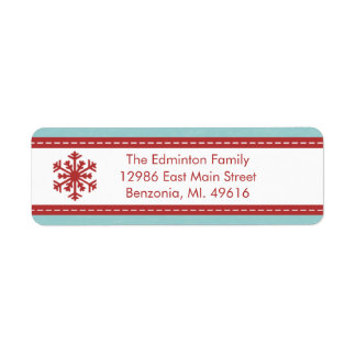 Alegre azul moderno da etiqueta de endereço pouco etiqueta endereço de retorno