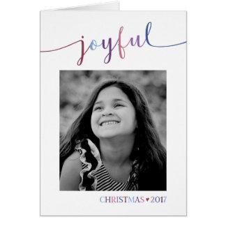 Alegre - cartão de Natal da foto