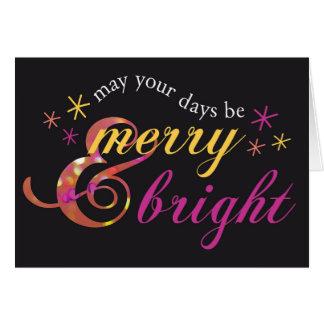Alegre e brilhante cartão