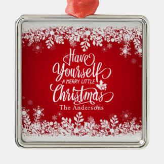 Alegre personalizado pouco ornamento do Natal |