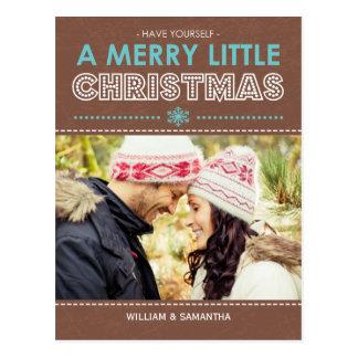 Alegre pouco cartão do feriado do Mocha do Natal Cartão Postal