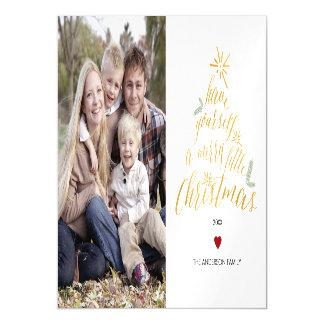 Alegre pouco Natal - cartão com fotos magnético