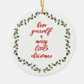 Alegre pouco Natal - ornamento da grinalda do