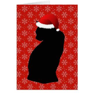 Alegre poucos cartões do gato do Natal