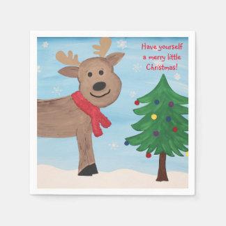 Alegre poucos guardanapo do Natal
