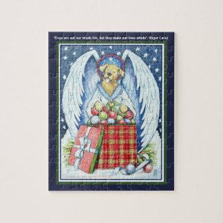 """Alegria 8"""" do Natal do urso x 10"""" quebra-cabeça"""