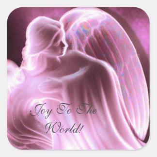 Alegria à etiqueta do anjo do mundo