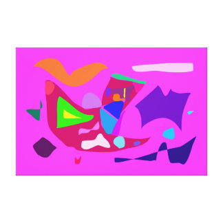 Alegria abstrata 118 da boa sorte da felicidade da impressão de canvas envolvidas