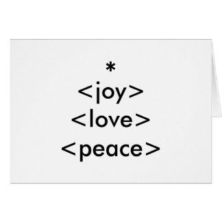 alegria - amor - cartão do feriado da paz