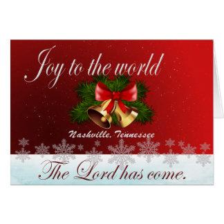 Alegria ao cartão de Natal de Nashville do mundo