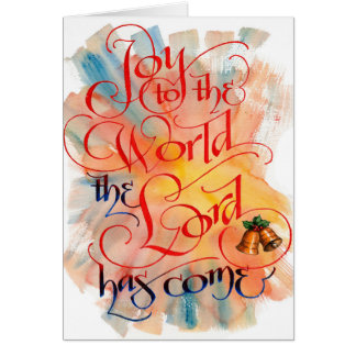 Alegria ao cartão de Natal do mundo