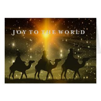 Alegria ao cartão de Natal dos homens sábios do