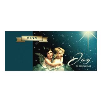 Alegria ao mundo. Cartões de Natal religiosos Convite 10.16 X 23.49cm