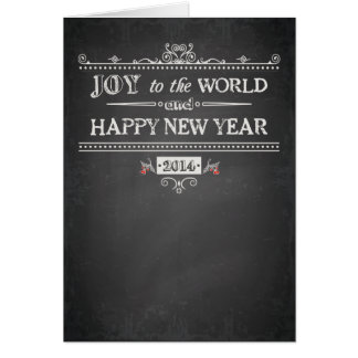 Alegria ao mundo - o feliz ano novo - 2014 cartoes