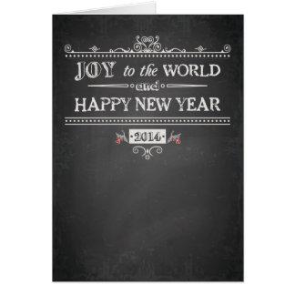 Alegria ao mundo - o feliz ano novo - 2014 cartão comemorativo