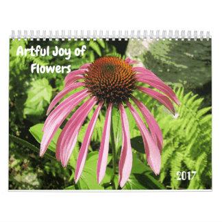 Alegria astuta do calendário das flores
