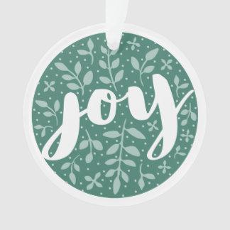 Alegria astuta ornamento personalizado do feriado