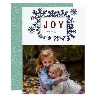 Alegria & cartão com fotos do feriado dos flocos