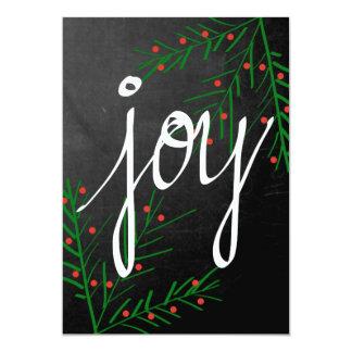 Alegria - cartão de Natal Convite 12.7 X 17.78cm