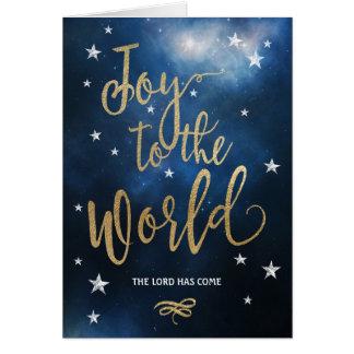 Alegria cristã do cartão de Natal ao mundo