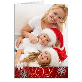 Alegria de PixDezines, cor de snowflakes/DIY Cartão Comemorativo