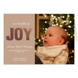 Alegria do bebê do Natal Cartão Comemorativo
