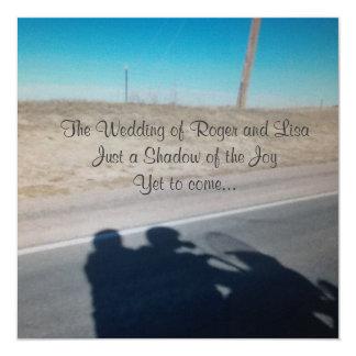 Alegria do casamento convite quadrado 13.35 x 13.35cm