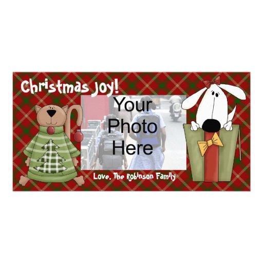 Alegria do Natal, cartões com fotos do costume do
