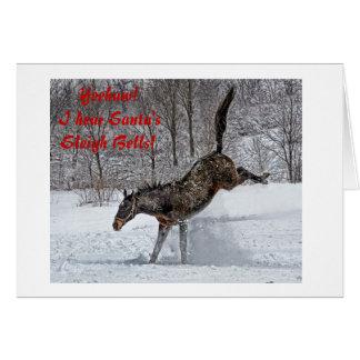 Alegria do puro-sangue no cartão do feriado da
