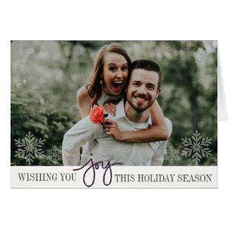 Alegria elegante cartão com fotos dobrado