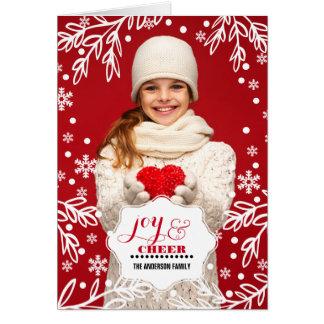 Alegria & elogio. Cartões de foto de Natal feitos