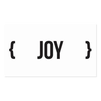 Alegria - suportada - preto e branco cartoes de visita