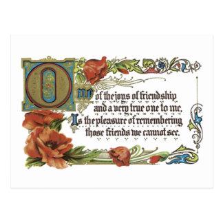 Alegrias da amizade cartoes postais