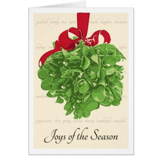 Alegrias do cartão de Natal da estação