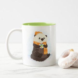 Além da caneca celíaca da lontra do feriado