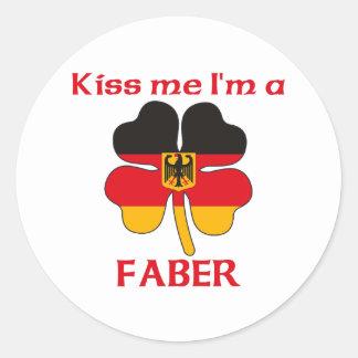 Alemães personalizados beijam-me que eu sou Faber Adesivos Em Formato Redondos