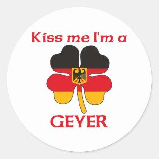 Alemães personalizados beijam-me que eu sou Geyer Adesivos Redondos