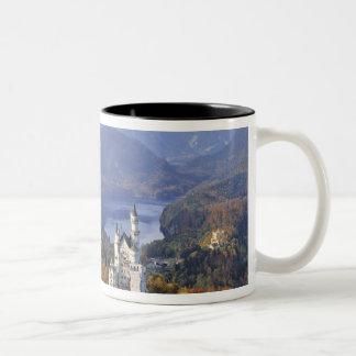 Alemanha, Baviera, castelo de Neuschwanstein. Rei Caneca De Café Em Dois Tons