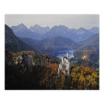 Alemanha, Baviera, castelo de Neuschwanstein. Rei Posteres