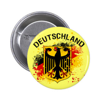 Alemanha do estilo do Grunge - design de Alemanha Bóton Redondo 5.08cm