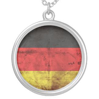 Alemanha Flagge Colar Com Pendente Redondo