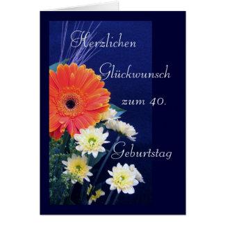 Alemão: 40th feliz/50th/60th aniversário… cartão comemorativo