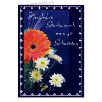 Alemão: 40th feliz/50th… aniversário cartão comemorativo